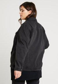 Simply Be - OVERSIZED JACKET - Džínová bunda - black denim - 3