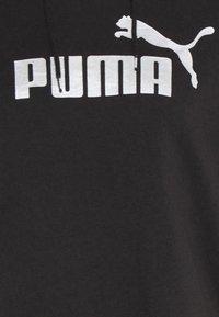Puma - METALLIC LOGO HOODIE - Jersey con capucha - black/silver - 4