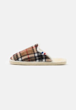 CHALET CHAUSSON CHECK UNISEX - Slippers - beige