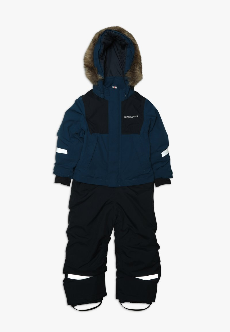 Didriksons - TIRIAN KID'S COVERALL - Zimní kalhoty - hurricance blue