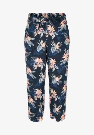 MIT PRINT UND TASCHEN - Trousers - blue