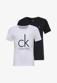 Calvin Klein Underwear - 2 PACK - Undershirt - black/white - 0