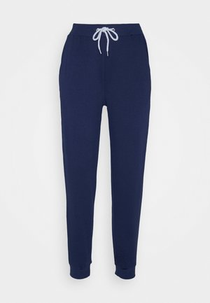 REGULAR FIT JOGGER WITH CONTRAST CORD - Spodnie treningowe - dark blue