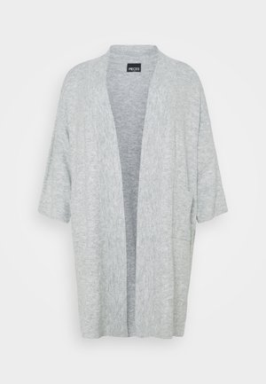 PCROW COATIGAN - Vest - light grey