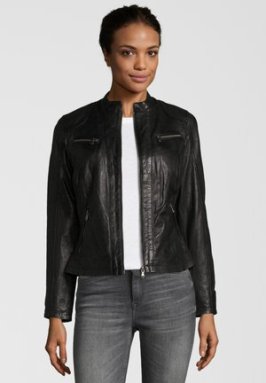 RUBY - Veste en cuir - black