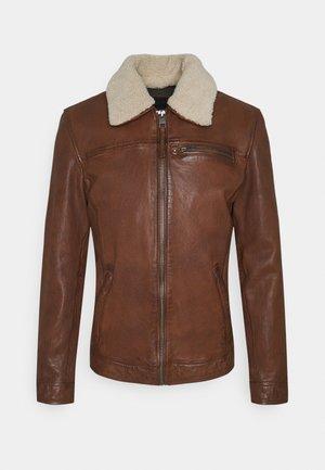 COLT - Leather jacket - cognac