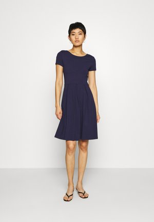 BASIC MINI DRESS - Jerseyklänning - maritime blue