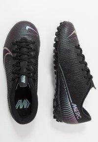 Nike Performance - MERCURIAL JR VAPOR 13 ACADEMY TF UNISEX - Astro turf trainers - black - 0