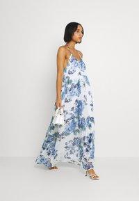 Vila - VIVIOLA STRAP DRESS - Day dress - cloud dancer/blue - 1