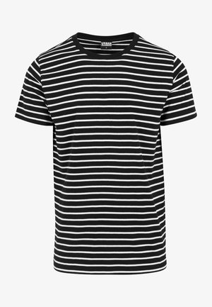 STRIPED TEE - Print T-shirt - black/white