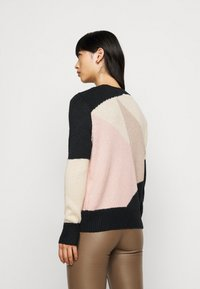 ONLY Petite - ONLMARCIL O-NECK PETIT - Jumper - black/almond milk/simply taupe/rose - 2