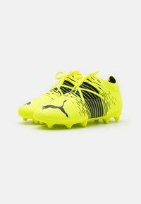 Puma - FUTURE Z 3.1 FG/AG JR UNISEX - Moulded stud football boots - yellow alert/black/white - 1
