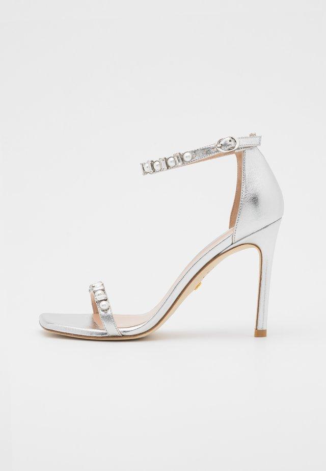 AMELINA SHINE - Sandals - silver