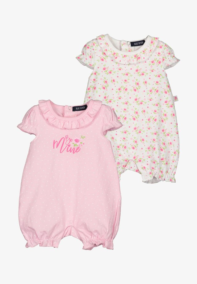 ROMANTIC ROSES - Jumpsuit - weiss + rosa aop