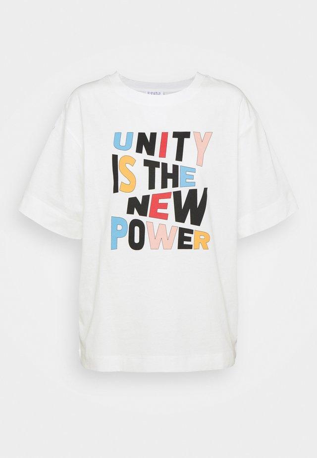 TRISTAN - T-shirt print - white