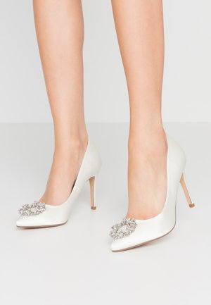 GLADLY POINTED TRIM COURT - High heels - white