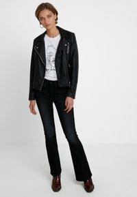 G-Star - Flared Jeans - jet black - 1