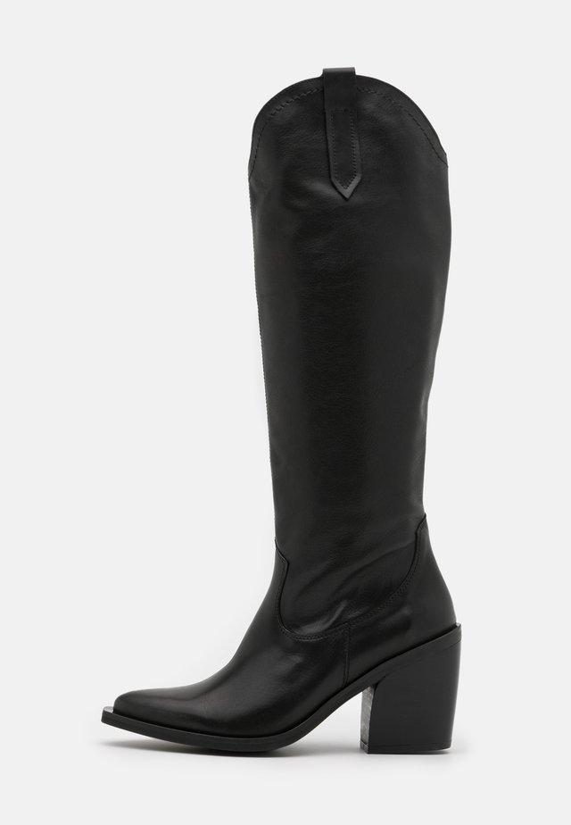 XILDA - Cowboy/Biker boots - savana