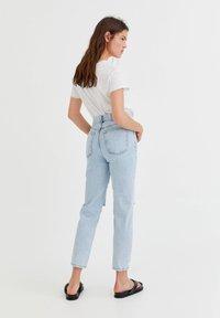 PULL&BEAR - Straight leg jeans - mottled royal blue - 2