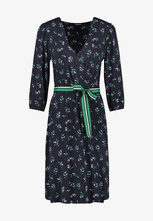 Day dress - indigo gemustert