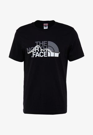 MOUNTAIN LINE TEE - T-shirt med print - black