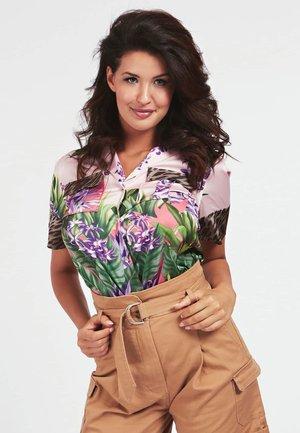 BLUMENPRINT - Button-down blouse - mehrfarbe rose
