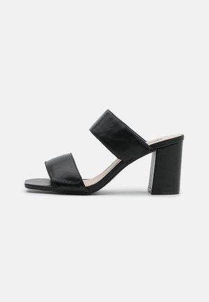 BLOCK  - Heeled mules - black