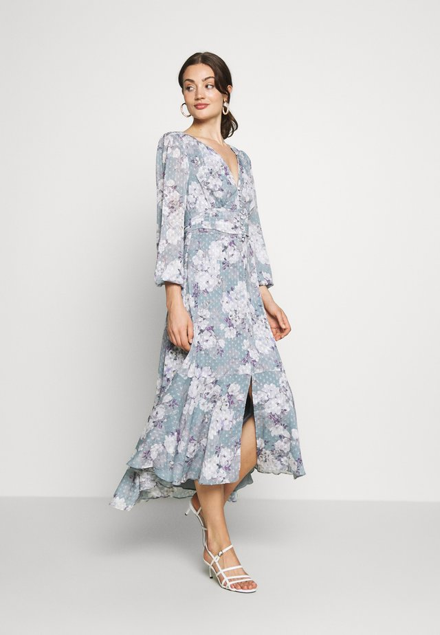 FLORAL HIGH-LOW - Maxi šaty - mint