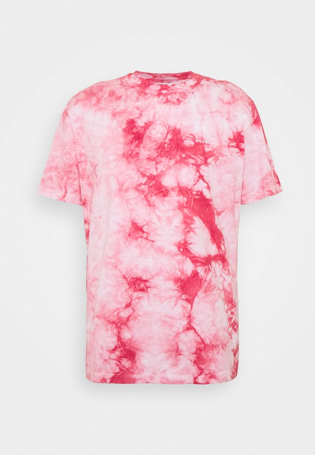 TEDY TIE DYE TEE - T-shirts med print - light pink