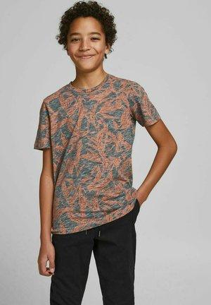 T-shirt imprimé - mottled light grey