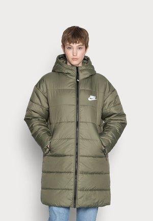 CLASSIC - Winter coat - medium olive/black/white