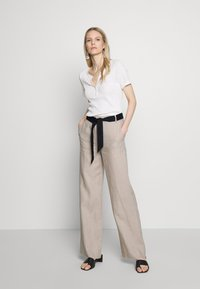 Esprit Collection - HR FLARED - Trousers - beige - 1