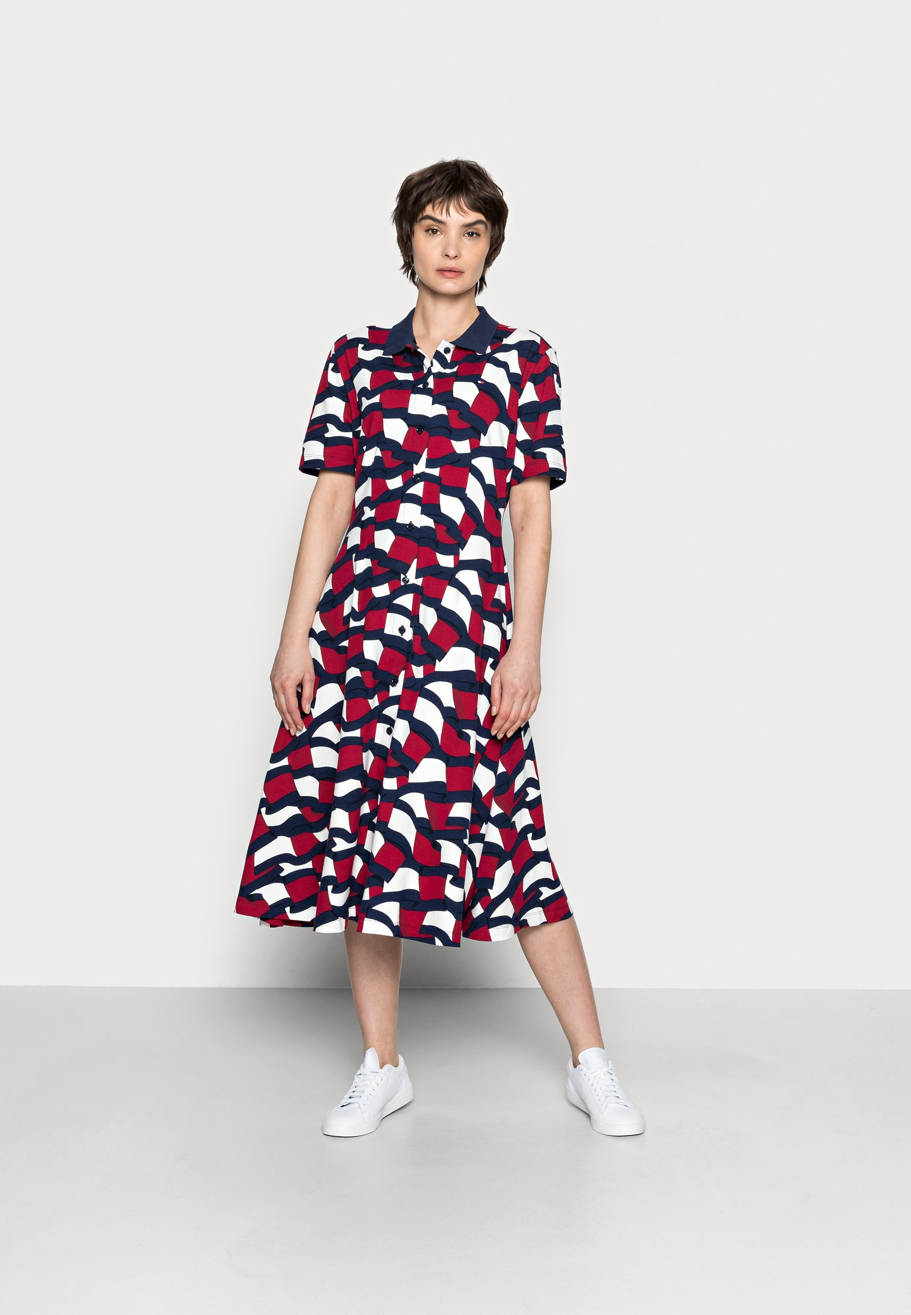 Women FLAG MIDI POLO DRESS - Day dress