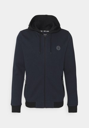 GREASS ZIP - Huvtröja med dragkedja - navy