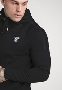 SIKSILK - SIKSILK MOTION TAPE ZIPTHROUGH - Mikina s kapucí - black - 5