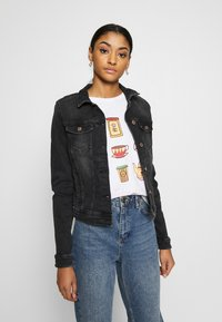 ONLY - ONLTIA LIFE JACKET - Jeansjacke - black denim - 0