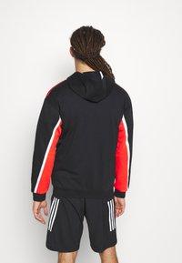 adidas Performance - HOODIE - Zip-up hoodie - black/red - 2
