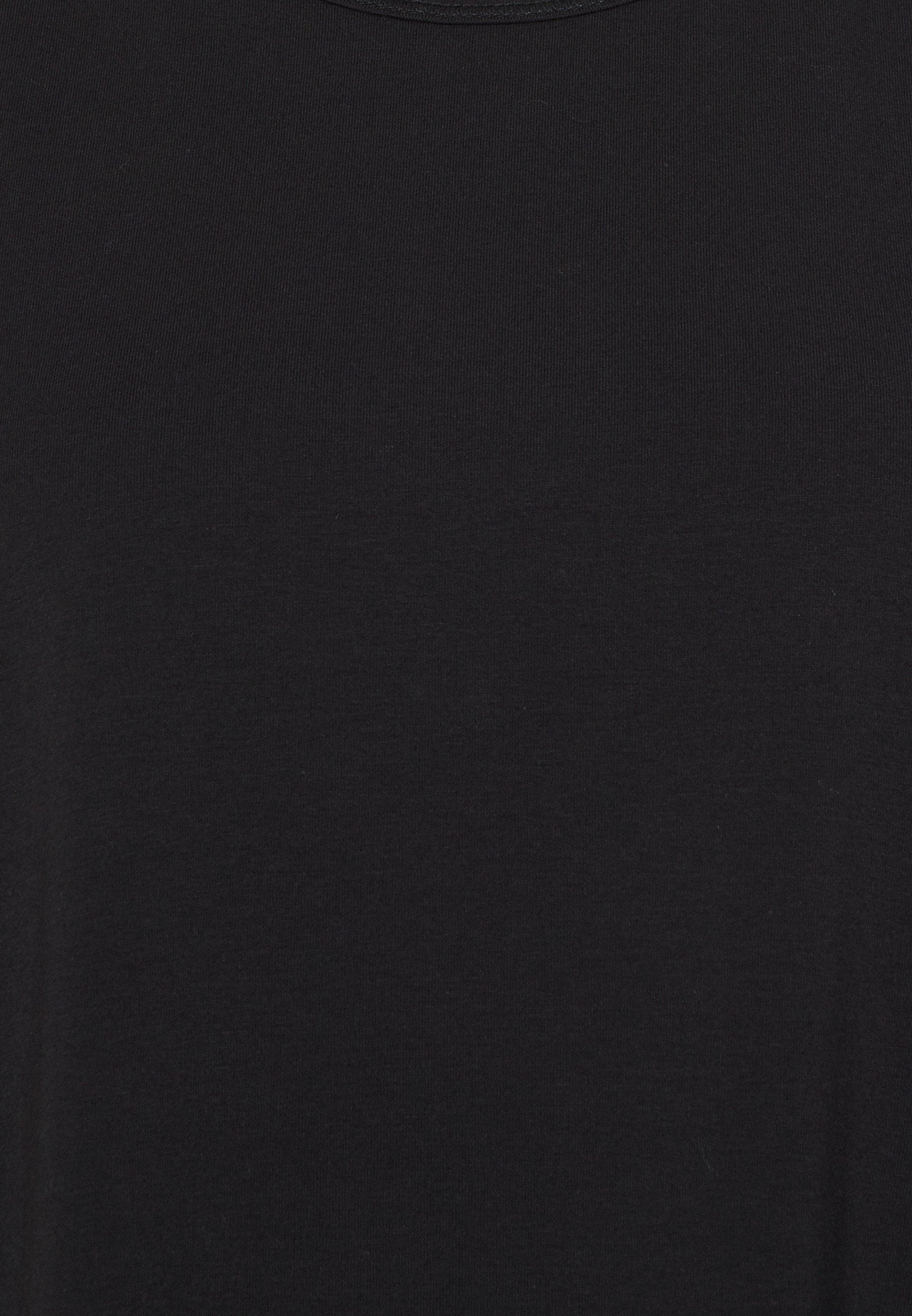 Cotton On Body LONGLINE SPLIT HEM TANK - Top - black bXO0y