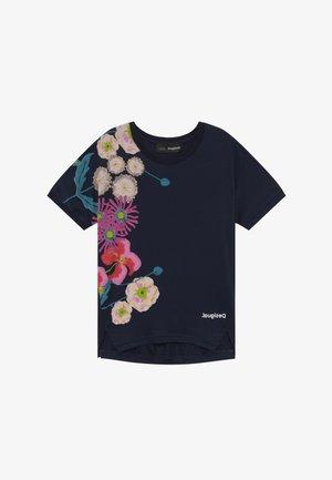 RHODE ISLAND  - T-shirt z nadrukiem - navy