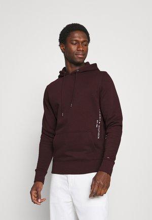 LOGO HOODIE - Sweater - deep burgundy