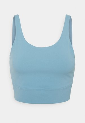 THE YOGA LUXE CROP TANK - Topper - cerulean/light armory blue