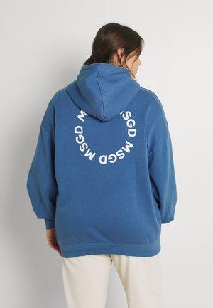 GRAPHIC ZIP THRU HOODIE - Zip-up sweatshirt - blue