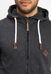 INDICODE JEANS - QUINBY - Zip-up hoodie - charcoal mix - 4