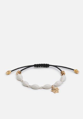 MULTI SHELL BRACELET CERATO VERNICE - Bracelet - bianco/nero/gold-coloured