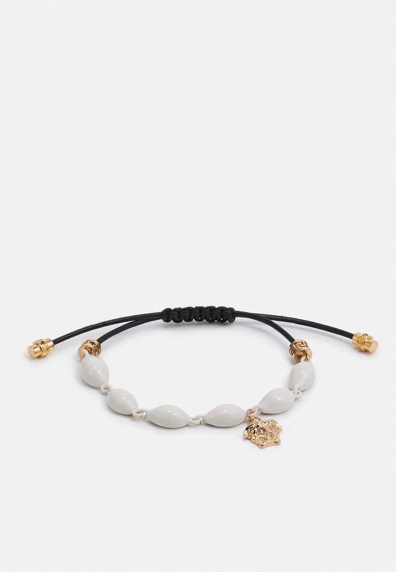 Versace - MULTI SHELL BRACELET CERATO VERNICE - Bracelet - bianco/nero/gold-coloured