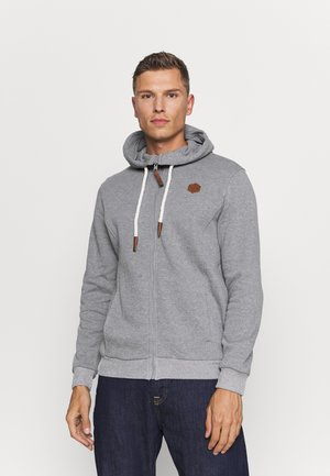 veste en sweat zippée - mottled grey