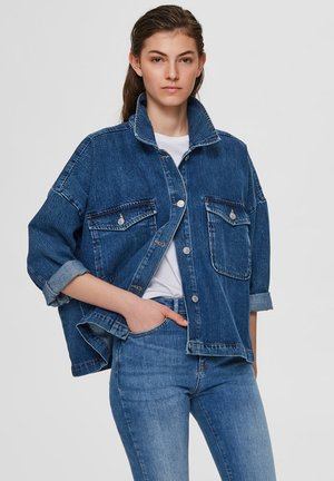 OVERSIZE - Cowboyjakker - medium blue denim