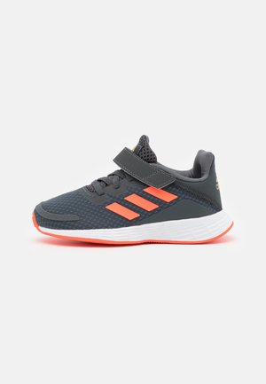 DURAMO UNISEX - Neutral running shoes - grey six/solar red/carbon
