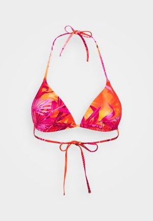TRIANGOLO MARE DONNA - Bikini top - fuxia arancio