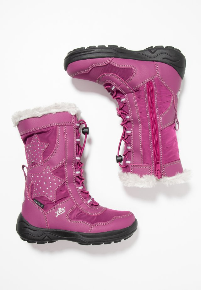CATHRIN - Botas para la nieve - pink/silber